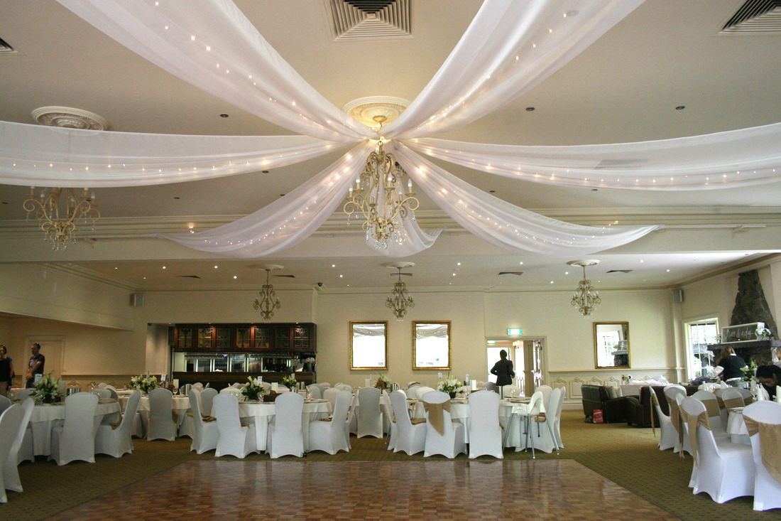 Ceiling Draping Melbourne Wedding Designers